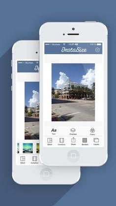 Instasize app to resize Instagram photos