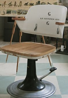 Old Danish barber chair...