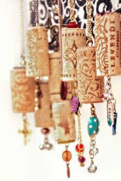 Wine Cork Jewelry, fan pulls, ornaments