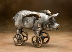 Flying Piggy Bank. My favourite piggy bank: http://www.helpmetosave.com/2012/02/piggy-bank/