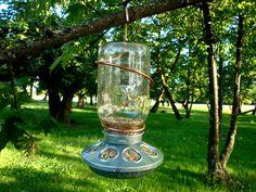 mason jar bird feeder