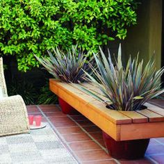 build a bench on planters