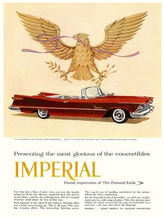 "The Most Glorious of Convertibles""    1957"