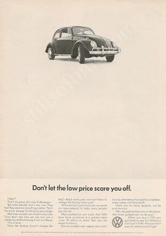 Volkswagen Ad - Don't Let The Low Prices