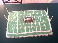 My superbowl cake