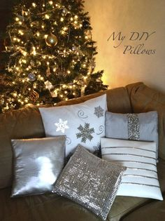 DIY Pillows - christmas pillows diy