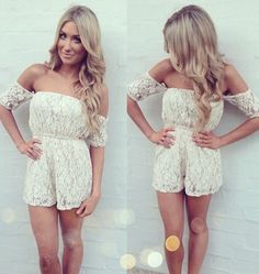 lace romper, fashion, style, cloth, rompers, dress, outfit, summer, closet