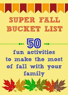 Super Fall Bucket List