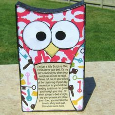 Scriptures owl. SO cute! Like a prayer rock but for scriptures. #owl #scriptures #youngwomen