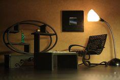 Dollhouse miniature modern scene