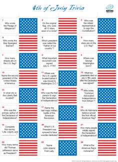 Fourth of July Trivia Game-FREE PRINTABLE