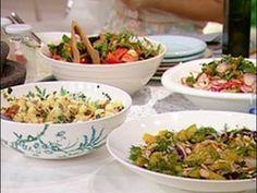 Recetas Narda Lepes|  -Ensalada varias: caprese, de papa y huevo, de remolachas, oriental y verde