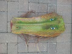 palm frond, dragon, paint palm