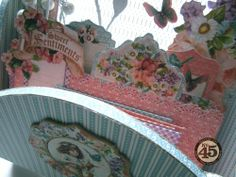 A look at the filing system Maria created with her beautiful Sweet Sentiments altered hook rack! #graphic45