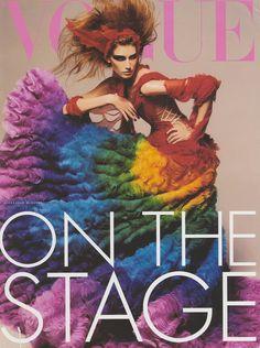 artists, alexander mcqueen, vogue italia, color, steven meisel, font, dress, rainbow, alexand mcqueen
