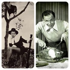 A #ThrowbackThursday Thanksgiving Special. Can you tell who that is on the left hunting a turkey?