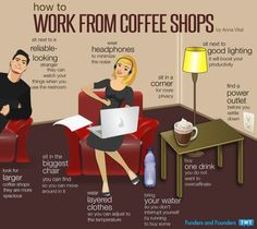 how to work in coffee shops! Love this!!
