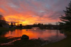 Sunset on Pittsfield Farm Pond