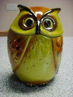 Metlox Poppytrail California Pottery Owl Cookie Jar