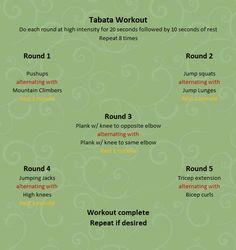 Tabata workout -- full body