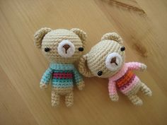 Sweater bearies (with pattern)