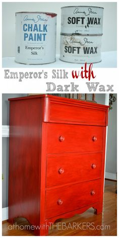 Painting with Annie Sloan Chalk Paint {Emperor's Silk} #athomewiththebarkers