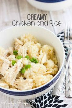 Creamy Chicken and Rice - easy, peasy meal for the fam.