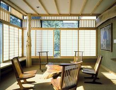 Nakashima reading room at the James A. Michener Art Museum - Doylestown, PA