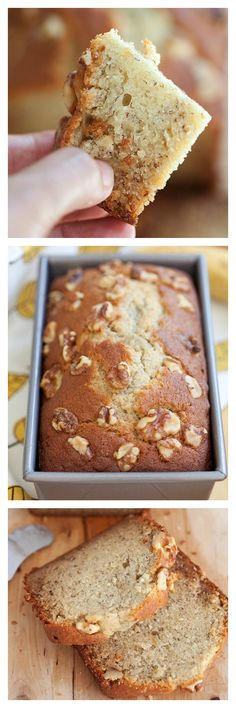Banana bread or banana cake is everyone's favorite. Topped with walnuts, this banana bread (banana cake) recipe yields the most delicious banana bread ever | rasamalaysia.com