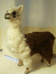 Artist Needle Felted Llama Sculpture OOaK Llama by LaCharmour