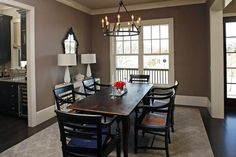"""I am freaking in LOVE with this paint color.  Perhaps I'm just partial to the name.  ;)   Benjamin Moore in """"Weimaraner""""."""