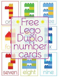 Lego Duplo Number Cards #preschool #kinderarten #homeschooling #lego #freeprintable #numbers