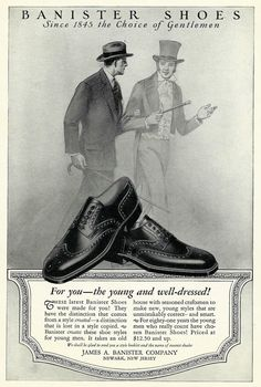 Vintage Mens Fashion Shoe Ad  1920's by zippitydoodlepaper on Etsy