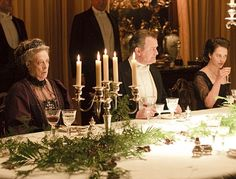Christmas dinner at Downton Abbey.