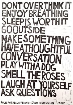 remember this, life rules, thought, inspir, dog, go outside, quot, healthy life, live