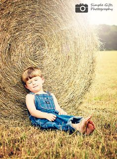 Have the hay rolls...need a little boy with overalls.