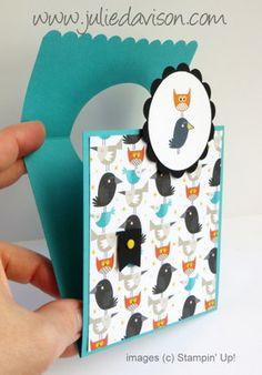 Stampin' Up! Freaky Friends Flap Fold Card #stampinup www.juliedavison.com