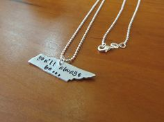 You'll Always be... Tennessee stamped necklace by thetinkerbelle, $28.00