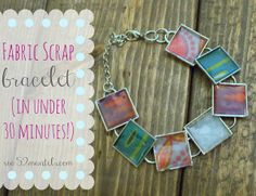 52 Mantels: Fabric Scrap Bracelet {Tutorial}