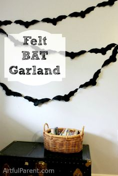 Super-simple bat garland, cut from inexpensive felt