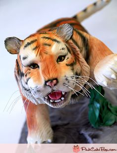 Tiger Cake by Pink Cake Box in Denville, NJ.