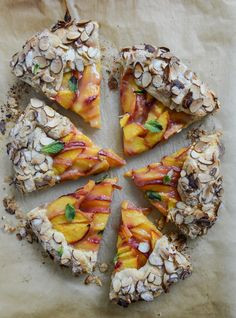 Ginger Peach Galette with Almond Crust.