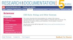 CSE - Citation help for the sciences using the Council of Science Editors' Manual or CSE. scienc editor, citat help