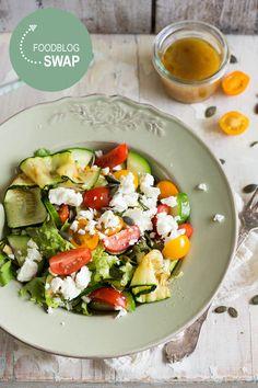Salade met gegrilde courgette en feta | Simone's KitchenSimone's Kitchen