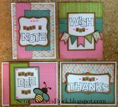 Scrapbookers rock: August Crazy4Cards with Lollydoodle paper