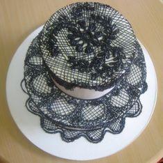 Black lace Spanish style wedding cake