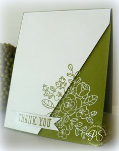 Love this effect done with embossing and stamping with classic ink.