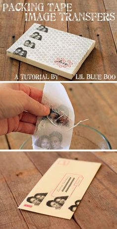 How to do image transfers using packaging tape...so cool!