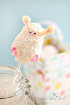 *Rice Krispies Easter bunny pop tutorial