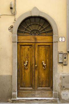 Sea-Horse Door. Florence, Italy. - I want the sea horses